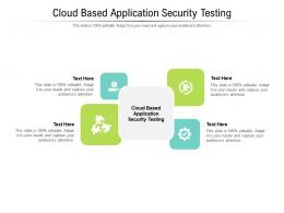 Cloud Based Application Security Testing Ppt Powerpoint Presentation Layouts Shapes Cpb