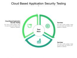 Cloud Based Application Security Testing Ppt Presentation Show Background Cpb