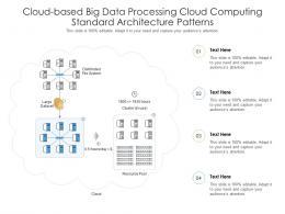 Cloud Based Big Data Processing Cloud Computing Standard Architecture Patterns Ppt Slide