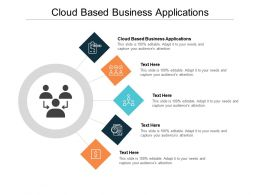 Cloud Based Business Applications Ppt Powerpoint Presentation Model Slide Cpb