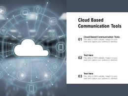 Cloud Based Communication Tools Ppt Powerpoint Presentation Sample Cpb