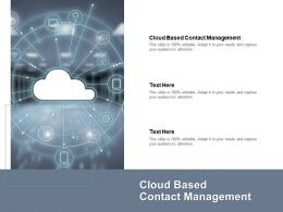 Cloud Based Contact Management Ppt Powerpoint Presentation Ideas Grid Cpb
