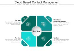 Cloud Based Contact Management Ppt Powerpoint Presentation Template Example File Cpb