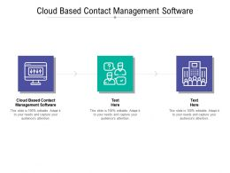 Cloud Based Contact Management Software Ppt Powerpoint Presentation Styles Model Cpb