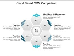 Cloud Based CRM Comparison Ppt Powerpoint Presentation Infographics Guidelines Cpb