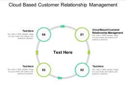 Cloud Based Customer Relationship Management Ppt Powerpoint Presentation Slides Cpb