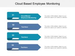 Cloud Based Employee Monitoring Ppt Powerpoint Presentation Infographics Show Cpb
