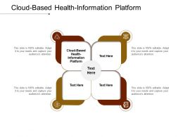 Cloud Based Health Information Platform Ppt Powerpoint Presentation Pictures Aids Cpb