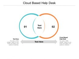 Cloud Based Help Desk Ppt Powerpoint Presentation Gallery Template