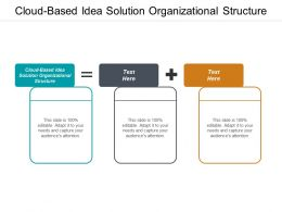 Cloud Based Idea Solution Organizational Structure Ppt Powerpoint Presentation Pictures Templates Cpb