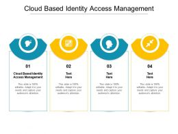 Cloud Based Identity Access Management Ppt Powerpoint Presentation File Picture Cpb