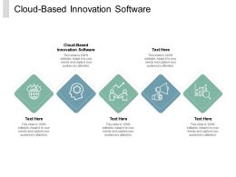 Cloud Based Innovation Software Ppt Powerpoint Presentation Summary Demonstration Cpb