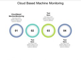 Cloud Based Machine Monitoring Ppt Powerpoint Presentation Infographic Template Cpb