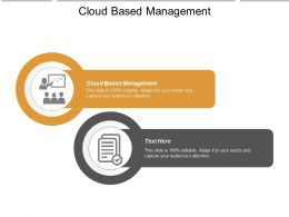Cloud Based Management Ppt Powerpoint Presentation Styles Templates Cpb