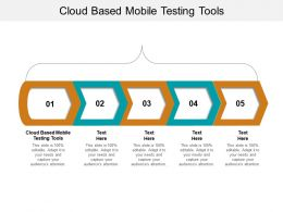 Cloud Based Mobile Testing Tools Ppt Powerpoint Presentation Gallery Guide Cpb