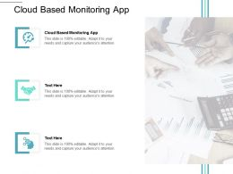 Cloud Based Monitoring App Ppt Powerpoint Presentation Slides Format Ideas Cpb