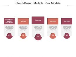 Cloud Based Multiple Risk Models Ppt Powerpoint Presentation Layouts Templates Cpb