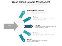 Cloud Based Network Management Ppt Powerpoint Presentation Model Template Cpb
