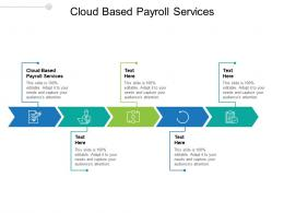 Cloud Based Payroll Services Ppt Powerpoint Presentation Layouts Clipart Images Cpb