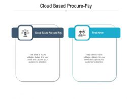Cloud Based Procure Pay Ppt Powerpoint Presentation File Tips Cpb