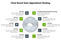 Cloud Based Sales Appointment Booking Ppt Powerpoint Presentation Infographics Design Inspiration Cpb