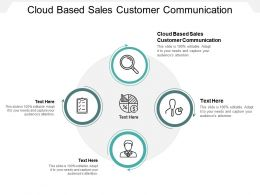 Cloud Based Sales Customer Communication Ppt Powerpoint Presentation Model Pictures Cpb