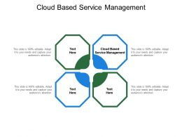 Cloud Based Service Management Ppt Powerpoint Presentation Styles Portfolio Cpb