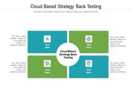 Cloud Based Strategy Back Testing Ppt Powerpoint Presentation Portfolio Show Cpb