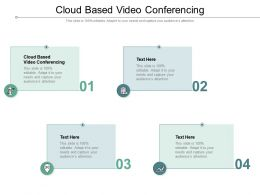Cloud Based Video Conferencing Ppt Powerpoint Presentation Icon Ideas Cpb