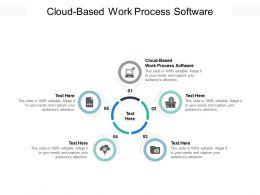 Cloud Based Work Process Software Ppt Powerpoint Presentation Portfolio Maker Cpb