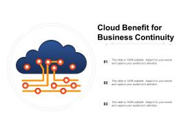 Cloud Benefit For Business Continuity