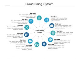 Cloud Billing System Ppt Powerpoint Presentation Ideas Brochure Cpb