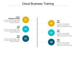 Cloud Business Training Ppt Powerpoint Presentation Slides Demonstration Cpb