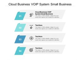 Cloud Business VOIP System Small Business Ppt Powerpoint Presentation Infographics Show Cpb