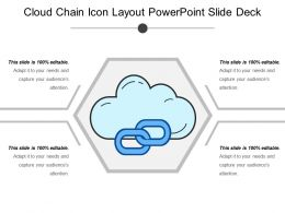 Cloud Chain Icon Layout Powerpoint Slide Deck