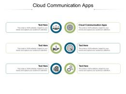 Cloud Communication Apps Ppt Powerpoint Presentation Gallery Vector Cpb