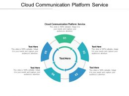 Cloud Communication Platform Service Ppt Powerpoint Presentation Styles Slide Portrait Cpb