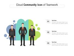 Cloud Community Icon Of Teamwork
