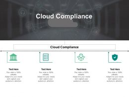 Cloud Compliance Ppt Powerpoint Presentation Icon Elements Cpb