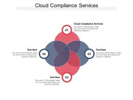 Cloud Compliance Services Ppt Powerpoint Presentation Model Images Cpb