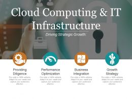 Cloud Computing And It Infrastructure Powerpoint Slide Information