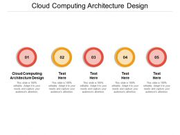 Cloud Computing Architecture Design Ppt Powerpoint Presentation Slides Microsoft Cpb