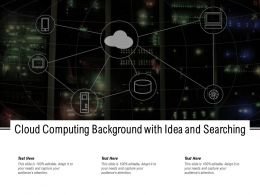 Cloud Computing Background With Idea And Searching