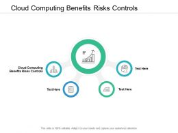 Cloud Computing Benefits Risks Controls Ppt Powerpoint Presentation Gallery Template Cpb