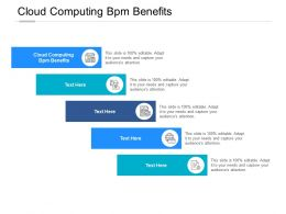 Cloud Computing Bpm Benefits Ppt Powerpoint Presentation Slides Design Inspiration Cpb