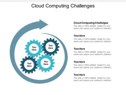 Cloud Computing Challenges Ppt Powerpoint Presentation Gallery Samples Cpb