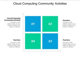 Cloud Computing Community Activities Ppt Powerpoint Presentation Gallery Topics Cpb