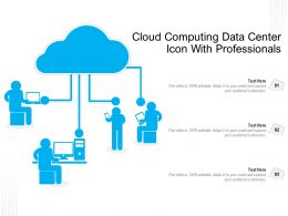 Cloud Computing Data Center Icon With Professionals