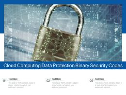 Cloud Computing Data Protection Binary Security Codes