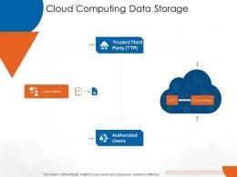 Cloud Computing Data Storage Cloud Computing Ppt Introduction